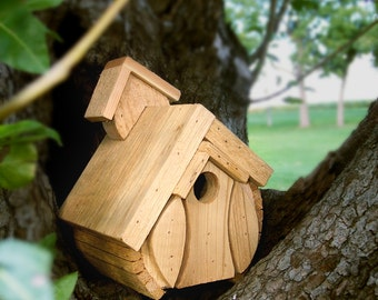 The  Breezy, The  Bungalow, and The Barrel ,look under following words,Cedar Bird House, Wooden Wren House, Natural Finish, Ou,