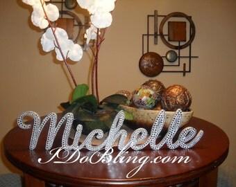 Custom Gorgeous Bling Personalized Name Rhinestone Sign
