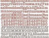 """Divine Canvas Textured Alphabet Stickers 8""""x10"""" by Prima Marketing 562915"""