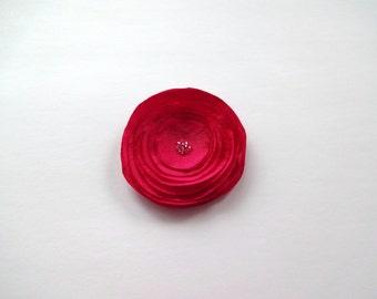 Fuchsia Pink Silk Poppy Embellishment