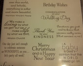 """Stampin Up """"Occasional Quotes"""" Clear Mount Stamp Set"""