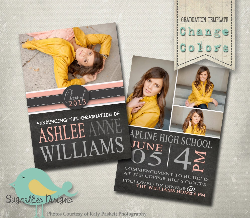 Graduation announcement templates senior graduation 19 for Senior announcement templates free