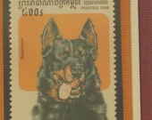 The Beauceron - Framed Cambodian Postage Stamp