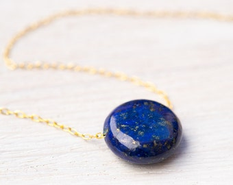 Lapis Necklace, gold necklace, Egyptian necklace, lapis jewelry, September birthstone