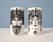 Vintage Scandinavian King and Queen Shakers