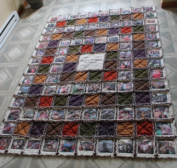 Custom made to order-Rag Quilt with photos