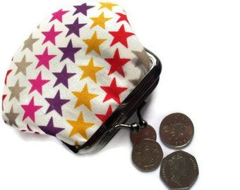 Small Coin Purse - Small Framed Change Purse - Coin Wallet - Framed Fabric Coin Purse - Pocket Money Pouch
