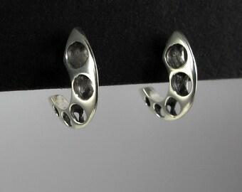Sterling Silver Lehman Hoop Earrings