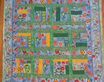 Baby Quilt-- Hippity Hopity Frogs Baby Quilt