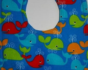 Whale Baby Bib - Infant Bib - Nautical Bibs - Gender Neutral Baby - Baby Boy Bib - Baby Girl Bib - New Baby Gifts - Fish Bib - Nautical Baby