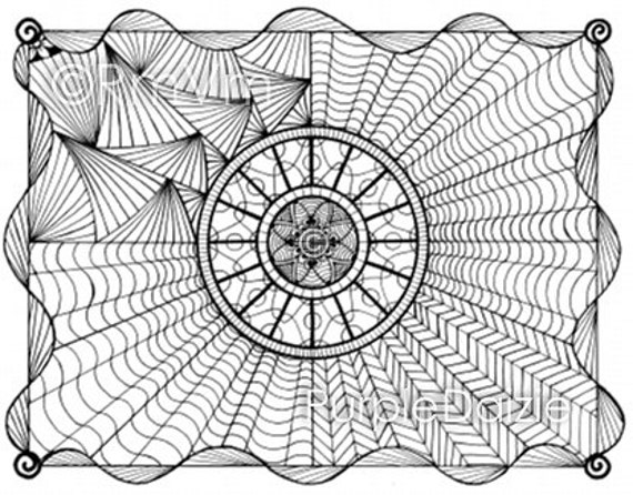 complex coloring pages online - photo#25