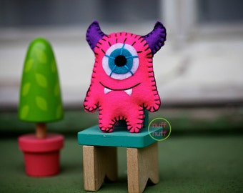 Felt Monster - Pocket Plush Toy