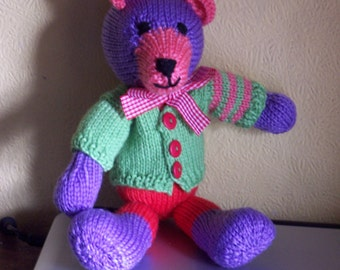 Snuggly Bear (Hand Knitted Toy) Will be made to order