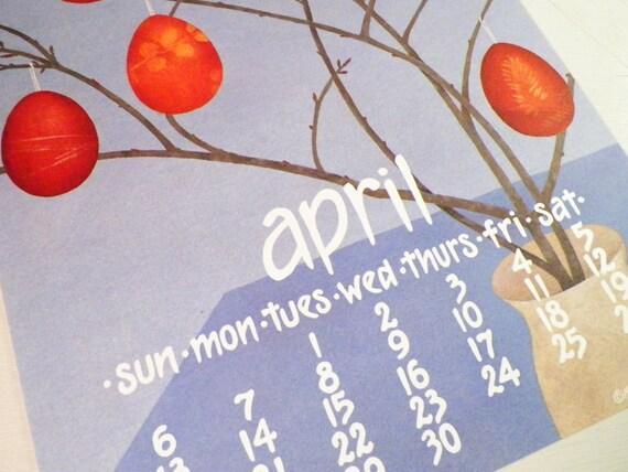 1980s calendar poster by nikki schumann size by dottiedigsvintage