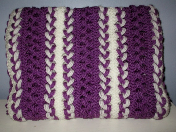 White Hairpin Lace Blanket
