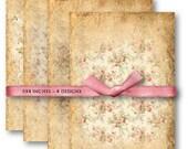 Digital Collage Sheet Download - Floral Texture Papers -  657  - Digital Paper - Instant Download Printables