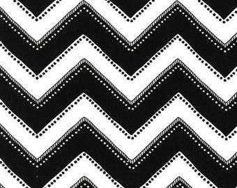 Modern Bliss Black and White Chevron Zig Zag - Andie Hanna Spoonflower Robert Kaufman - Fat Quarter cotton quilt fabric 516