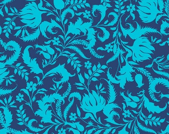 Lark by Amy Butler - Ivy Bloom  - PWAB070, Cobalt Blue  - 1/2 yard cotton quilt fabric 516