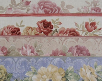 Designer Wallpaper Samples - Scrapbooking, Crafting, Art Projects - 14 Border Pieces from Norwall