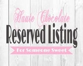 Reserved listing for Carla