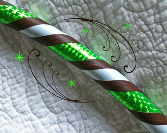 Fawn Dance & Exercise Hula Hoop COLLAPSIBLE or push button neon green brown white