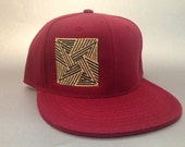 Crop Square Fitted Hat made to order flat bill crop circles FREE SHIPPING