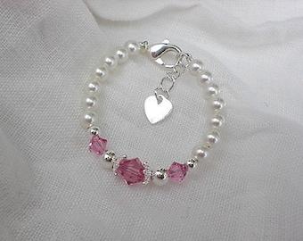 Baby gift-Bracelet for Baby-Baby Bracelets-Baby Birthstone Bracelet-Baby Jewelry