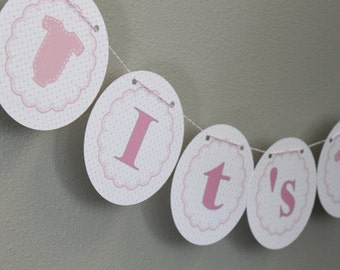 SUGAR AND SPICE It's A Girl Baby Shower Banner - Party Packs Available