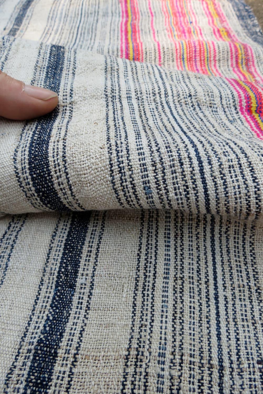 Handwoven Hmong Vintage Hemp Fabric Textiles And Fabrics