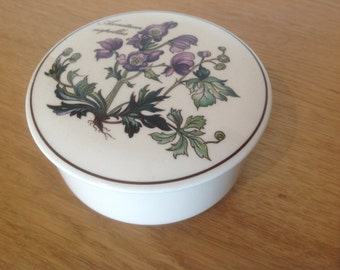 Villeroy and Boch trinket candy box botanica aconitum napellus