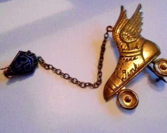 Vintage Antique Dating or Promise Pin from 1939 marked Dick and Dink Vintage Memorabilia