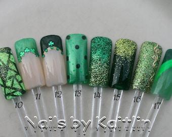 Wearin' Of The Green Artificial Nail Art