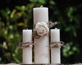 Rustic Unity Candle Set