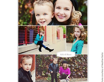 INSTANT DOWNLOAD - 16x20 Collage print & Blog board - Photoshop template - E700