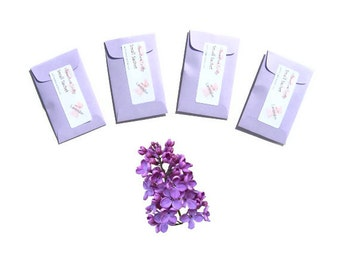 Lilac Scented Sachets Lilac Favors Car Air Freshened Closet Drawer Modern Home Fragrance Spring Pastel Purple Decor Wedding Shower Favors
