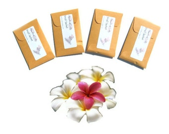 Summer Wedding Favors Packets Seed Sachets Scented Frangipani Cream Beach Party Designer Decor Tropical Useful Gift Traveler Freshen Luggage