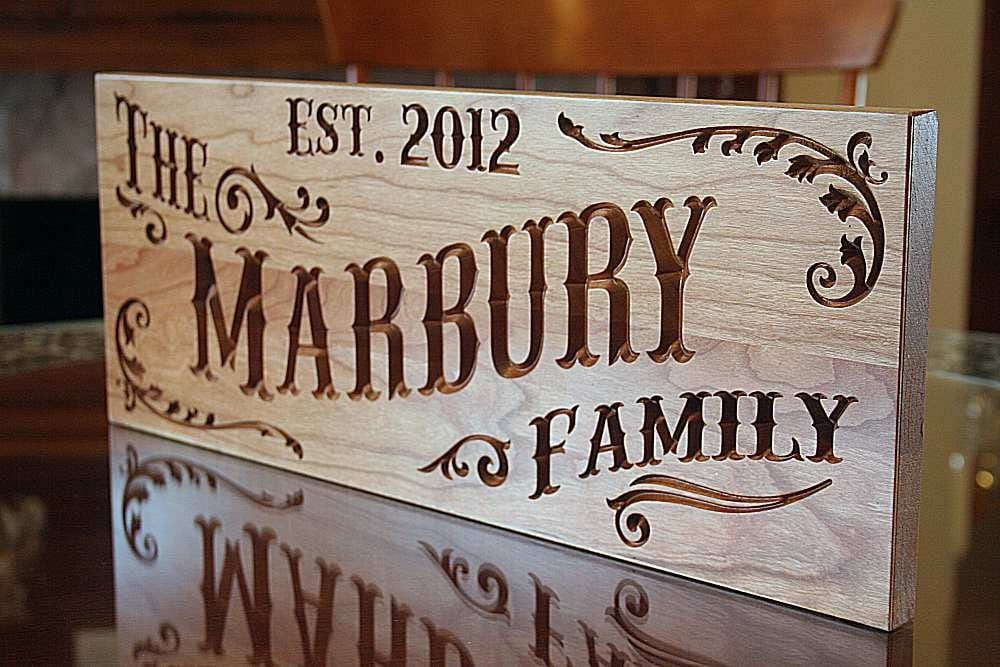 Last Name Sign Rustic Home Decor Sign Custom Wedding Sign