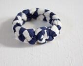 Cuff Bracelet - Plaited Bangle - Plain Navy Customised Cuff Bangle for Kate