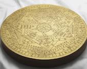 SALE 1 Large Sigillum Dei Aemeth Enochian Magick Altar Tool SDA John Dee Edward Kelly Enochian Ceremonial Magick Tool