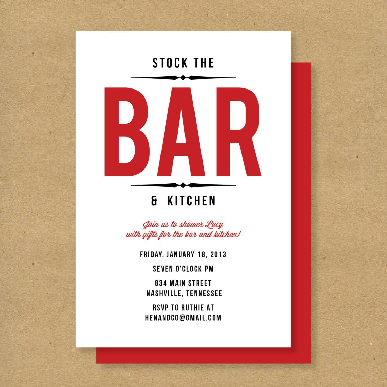 Stock The Bar Wedding Shower Ideas | Home Design