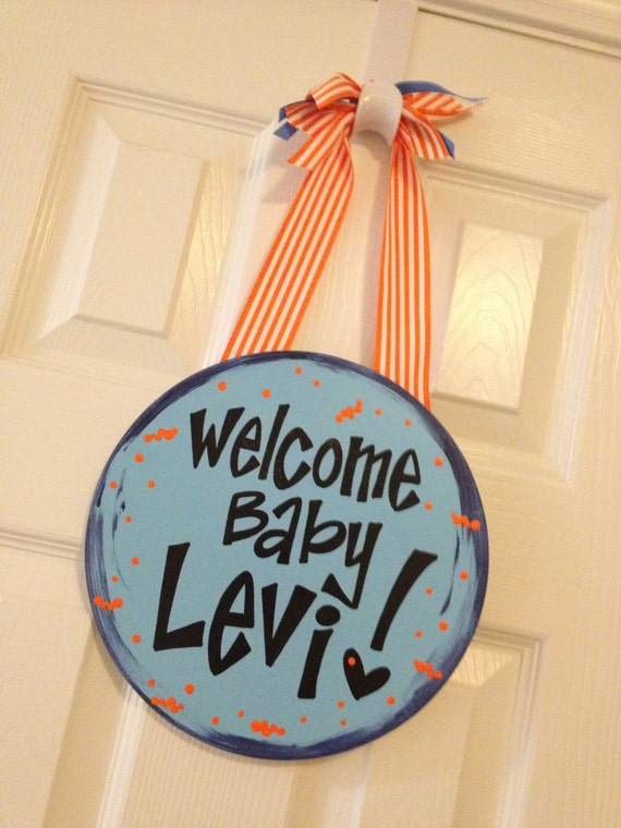 Hospital baby door decorations welcome baby by for Baby hospital door decoration