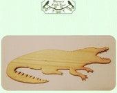 Alligator / Gator / Crocodile Wood Cut Out - Laser Cut