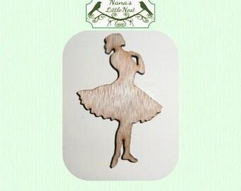Dancer - Ballerina - Ballet -  Wood Cut Out - Laser Cut