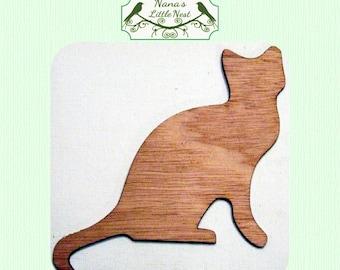 Cat Wood Cut Out - Laser Cut