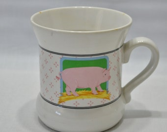 Vintage Vandor Country Pig Mug