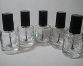 Empty Nail Polishes Bottles with Agitation Beads - 5 Count
