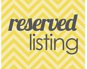 Reserved Listing for Mark