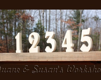 """5"""" DIY Wedding Table Numbers - 10 tables - unfinished Wooden, Wedding reception, unPainted"""
