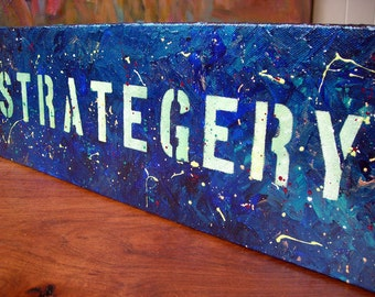 Strategery - original acrylic painting on canvas