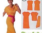 Vintage 1979 Simplicity Pattern 9348 Sz 6 & 8 SuperJiffy Pullover Dress